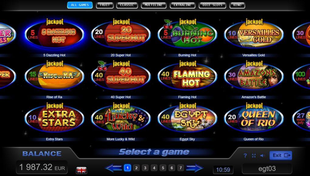 egt slot oyunları